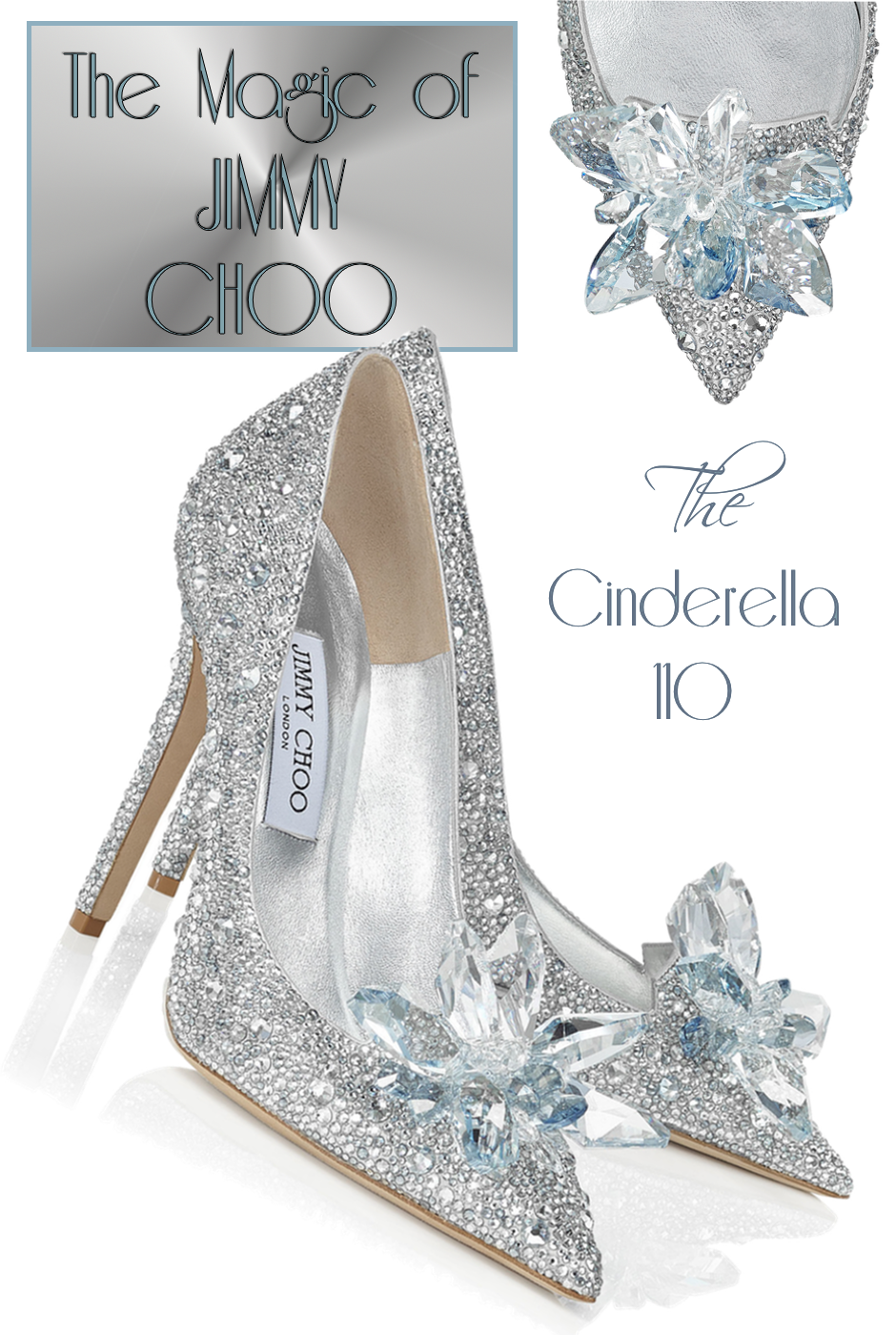 Jimmy Choo Cinderella 110 Crystal Covered Pointy Toe Slipper
