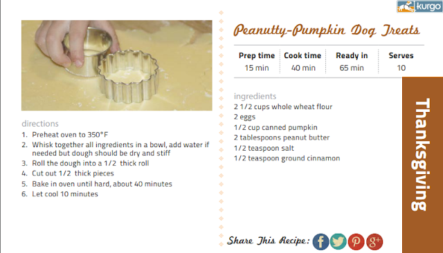 Peanutty Pumpkin Dog Treats recipe