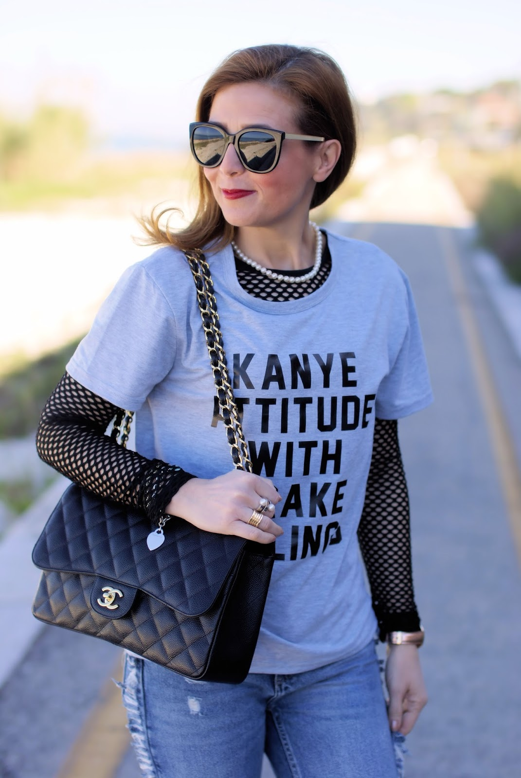 Kanye attitude with Drake feelings and Chanel bag on Fashion and Cookies fashion blog, fashion blogger style