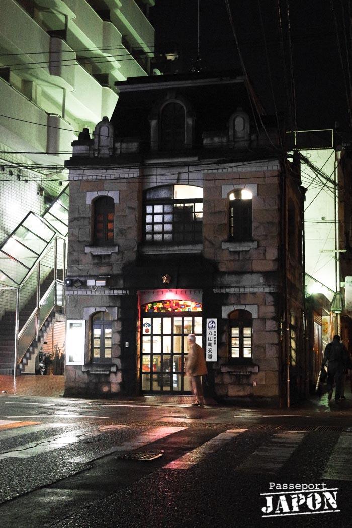 Koban de style occidental, Chinatown, Nagasaki (nocturne)