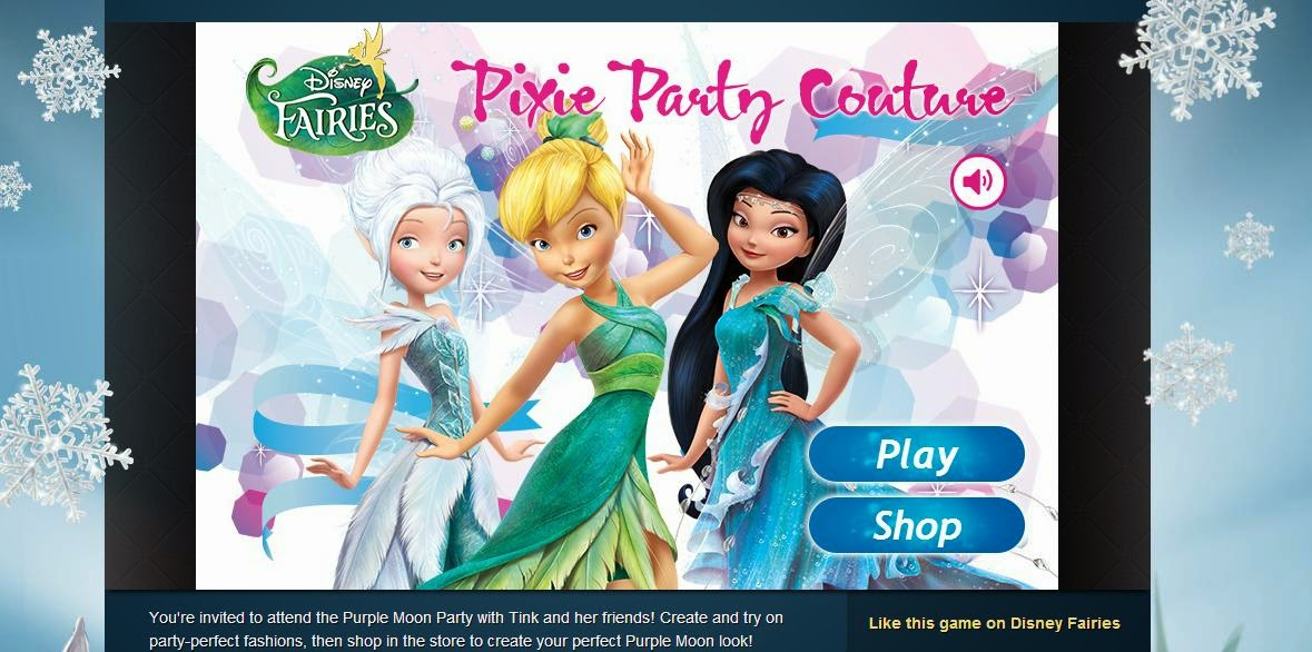 Pixie Hollow Clothes Making Game