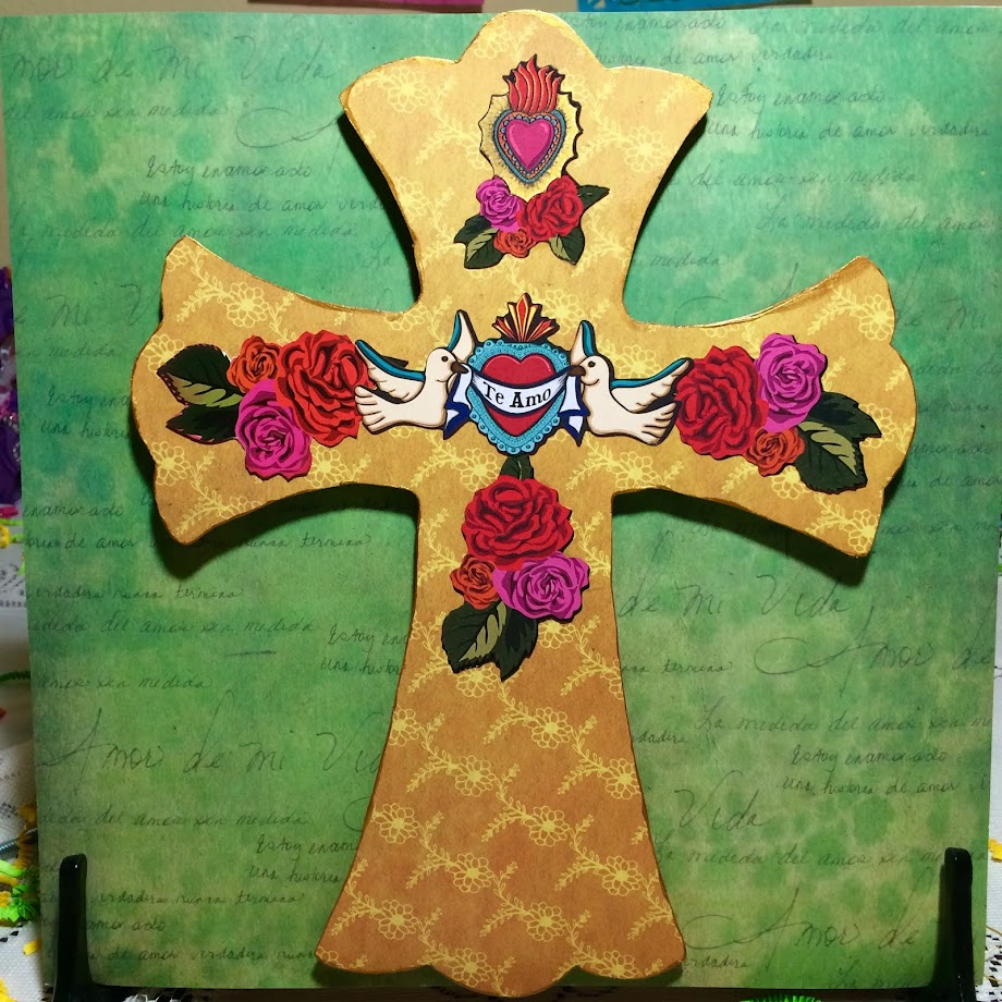 Cross Made with Sabor Papel's Amor Collection