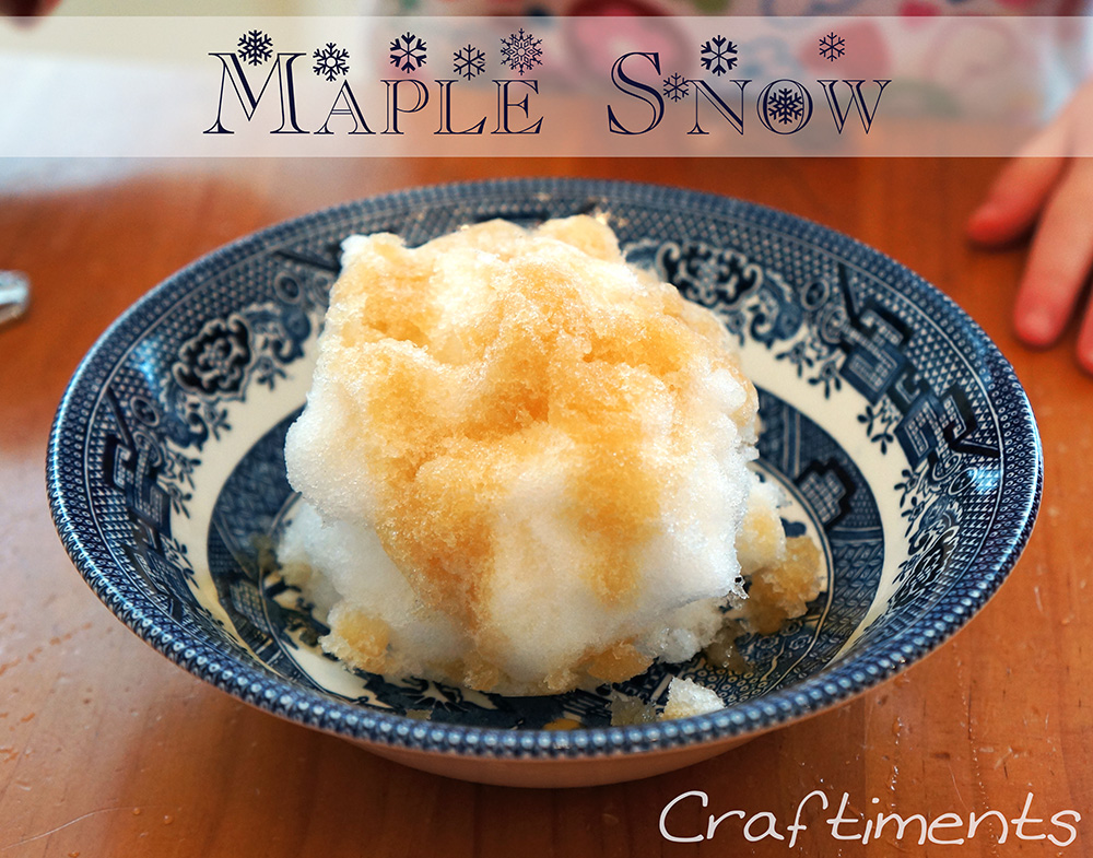 Craftiments:  Maple Snow