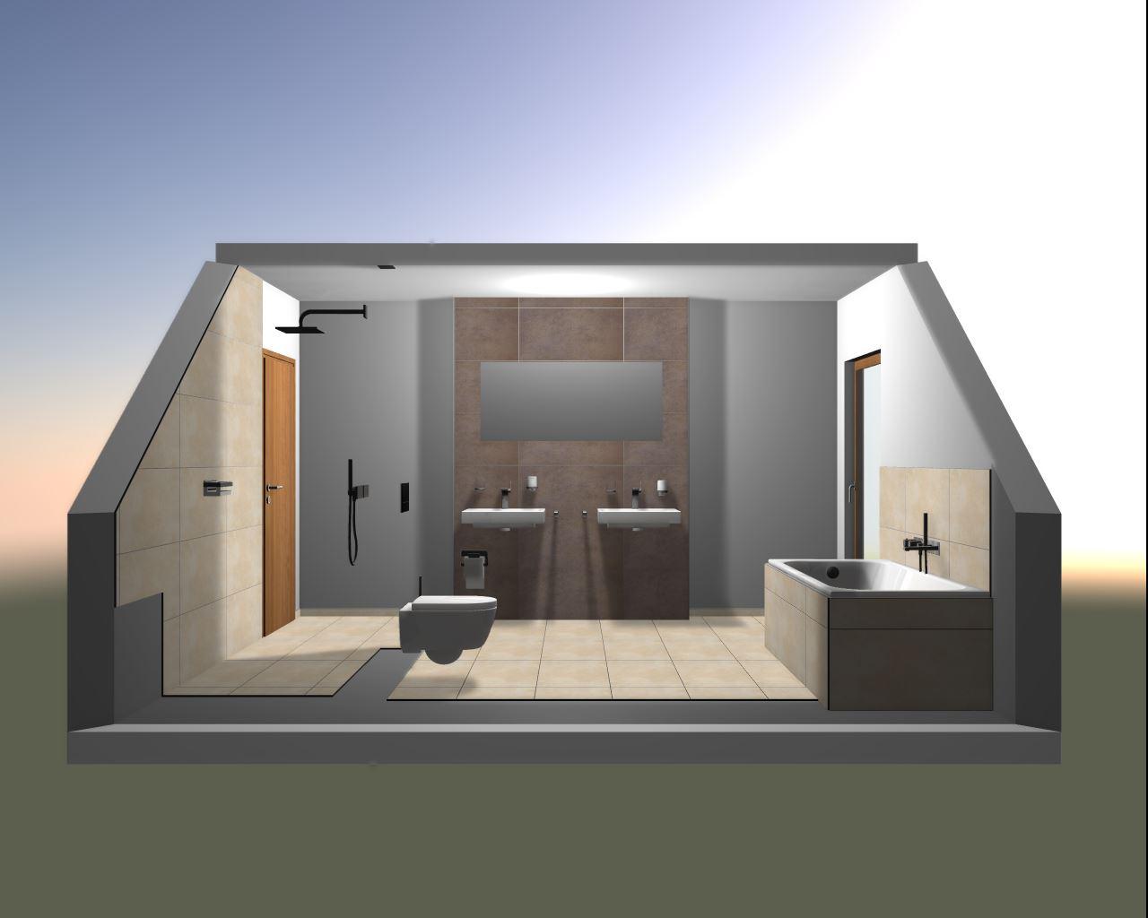 hausbau niederzier mit 4life: badimpressionen, Badezimmer ideen