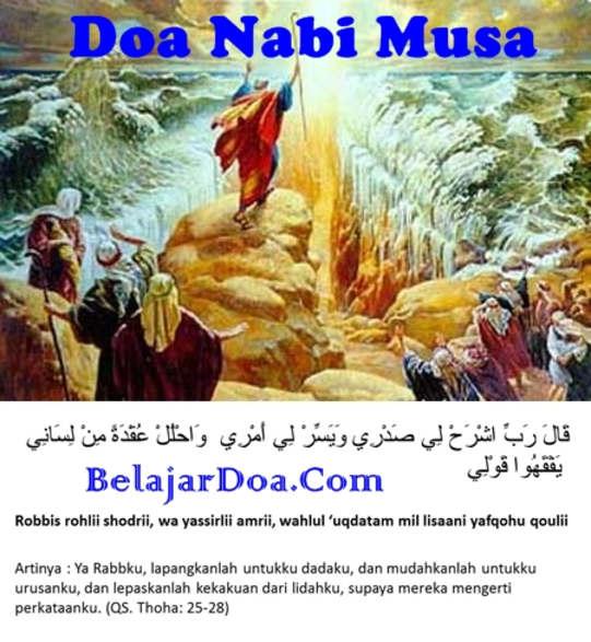 Kumpulan Doa Nabi Musa Agar Dimudahkan Segala Urusan Dalam Bahasa Arab Dan Terjemahan Arti Indonesia