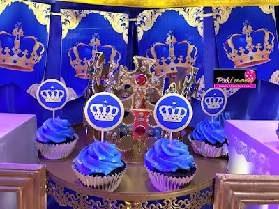 Royal prince themed cupcake