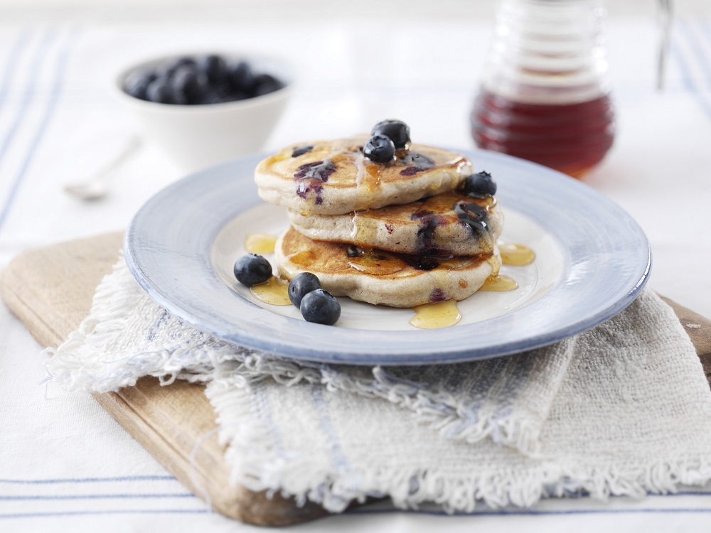 Free-From Blueberry And Buckwheat Pancakes