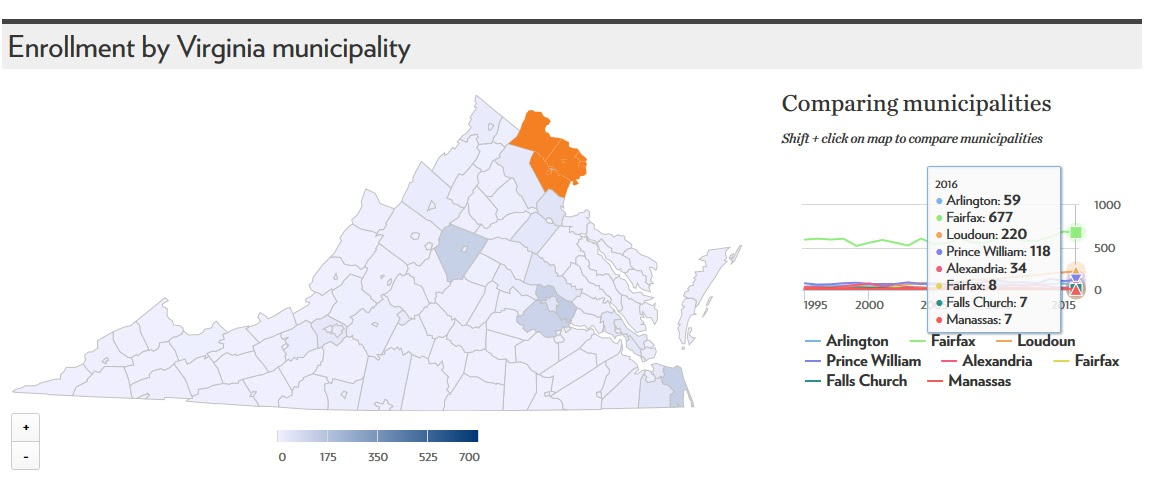 UVA Admission Quotas For Northern Virginia Office Of - Virginia county map with cities