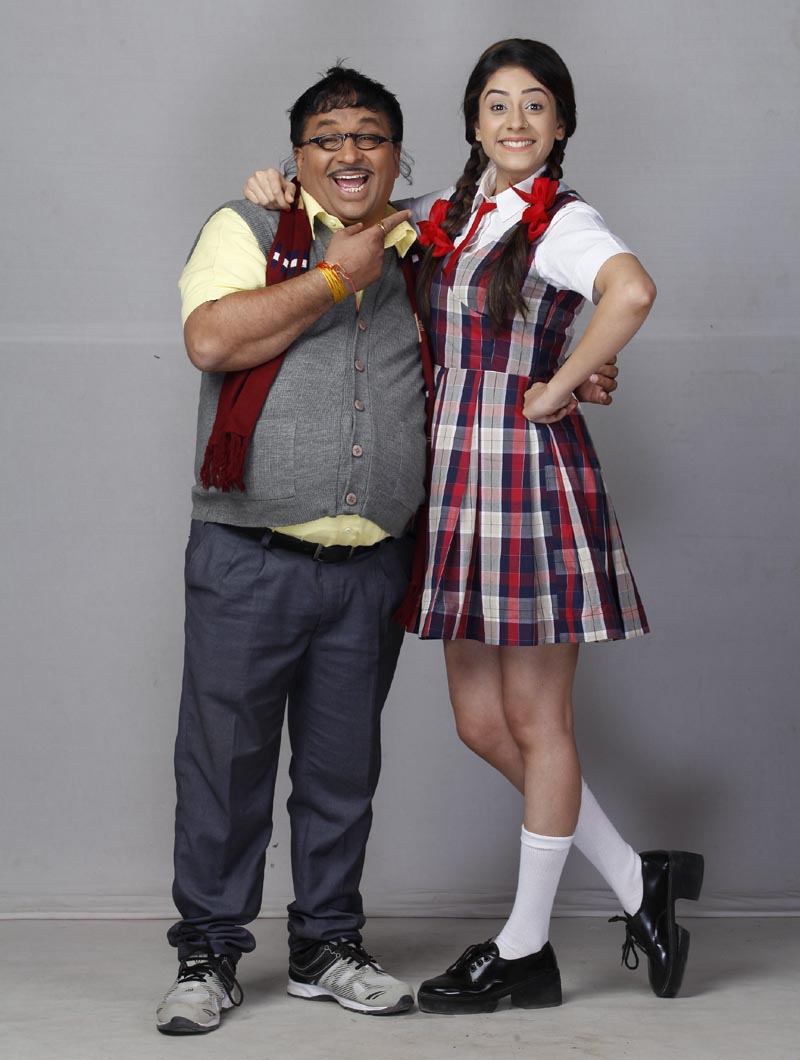 Anup Upadhyay as Murari and Hiba Nawab as Elaichi in Jijaji Chhat Per Hain