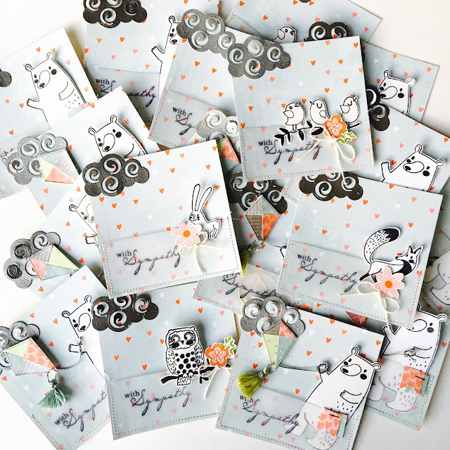 Thank You Cards by Angela Tombari using BoBunny Weekend Adventures Collection