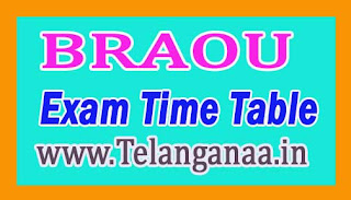 BRAOU B.Ed 1st year Annual Exam Dates Time Table 2016-17