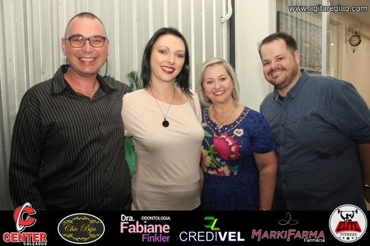 Jackson, eu, Mirta e Douglas no Café Panorama