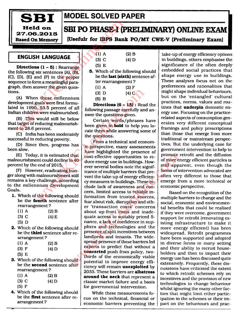 BANK PO EXAM SOLVED PAPERS DOWNLOAD