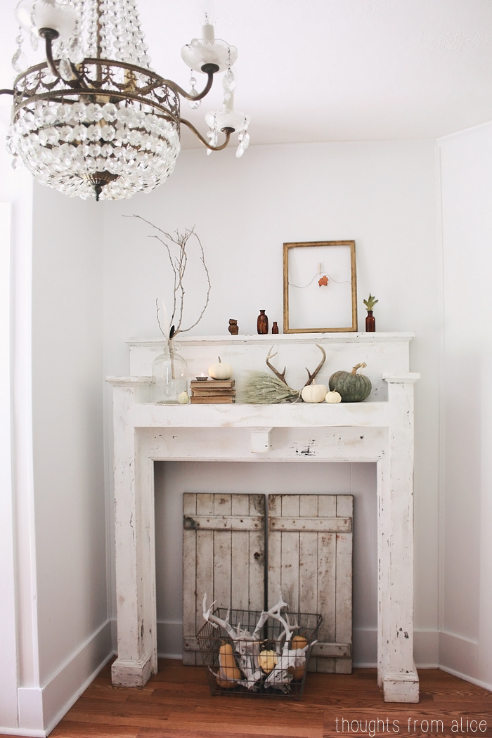 Fall home tour 2014 for Decorate old fireplace