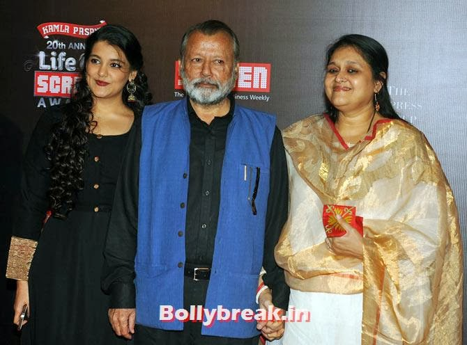 Pankaj Kapur with Sanah and Supriya Pathak, Life Ok Screen Awards 2014 Red Carpet Photos