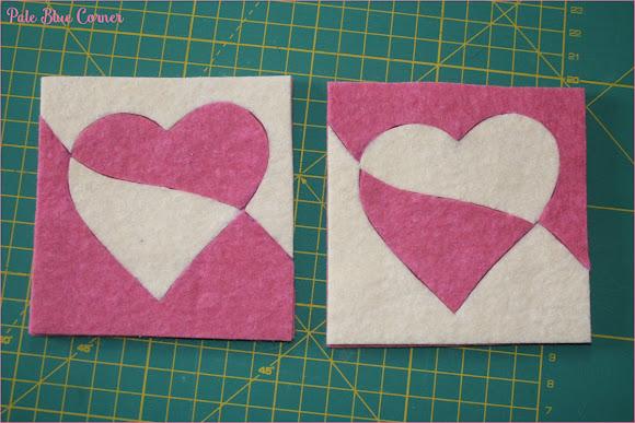 Valentine Felt Coasters