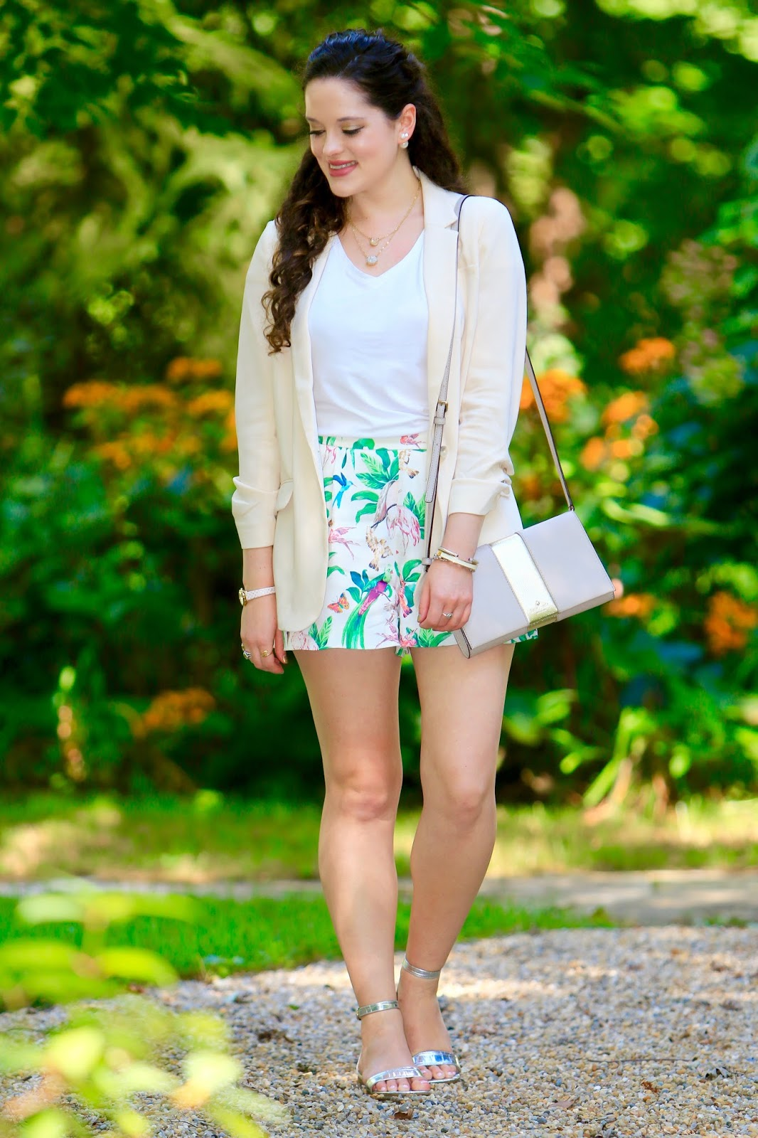 spring fall shorts blazer
