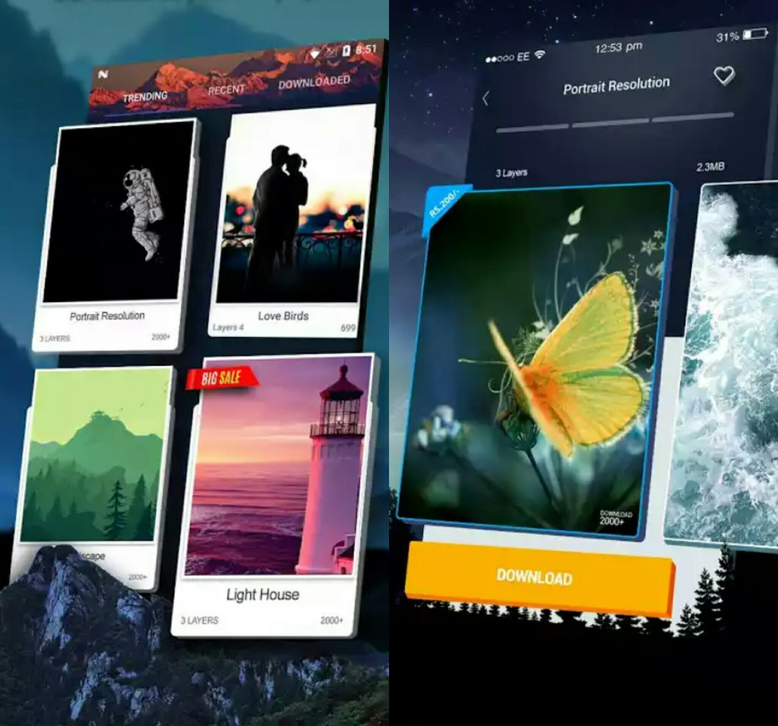 Top 5 Best Free HD And 3D Wallpaper Apps For Android [June