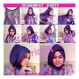 tutorial cara memakai model jilbab modern untuk acara pesta 1