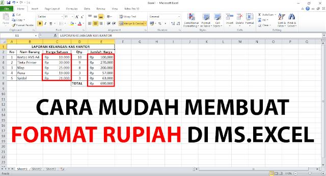 Cara Membuat Format Rupiah di Microsoft Excel