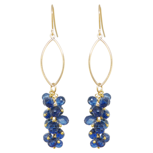 Oscar jewelry-blue earrings