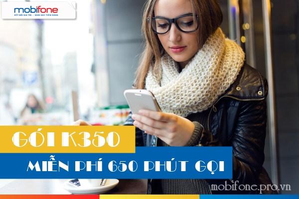 Hướng dẫn đăng ký gói khuyến mãi thoại K350 Mobifone