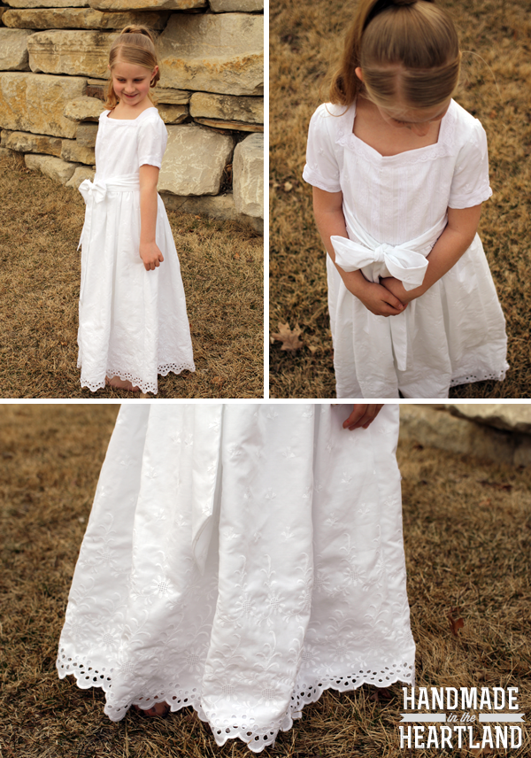 Girls Handmade Baptism Dress