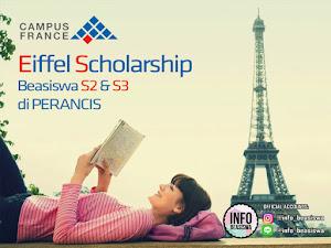 Eiffel Scholarship: Beasiswa S2 & S3 di Perancis