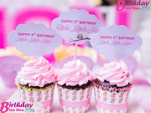 Tem bánh cupcake sinh nhật đẹp