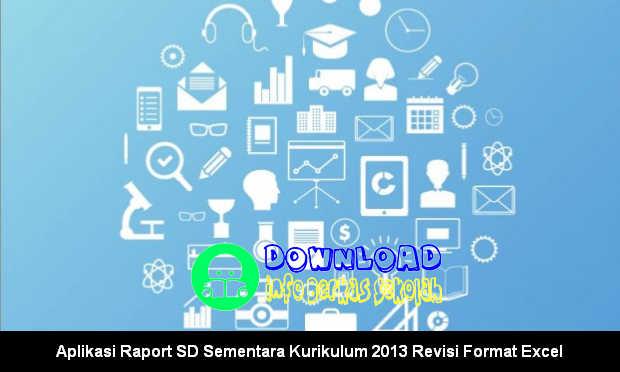 Aplikasi Raport SD Sementara Kurikulum 2013 Revisi Format Excel