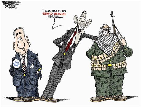 Image result for obama anti israel tantrum cartoons