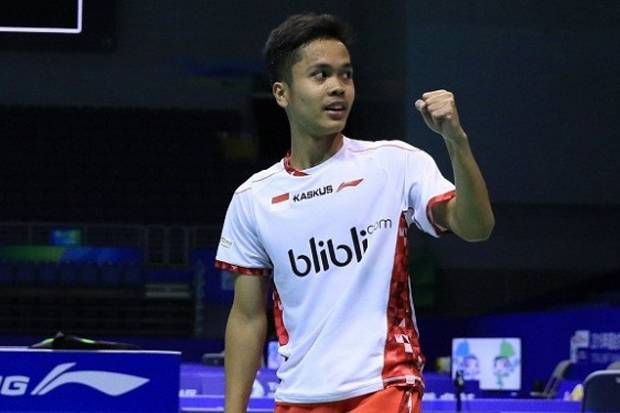 anthony ginting managed to donate points for indonesian thomas cup team the victory while delivering indonesia winning 2 1 at korea badmintonindonesia