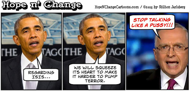 obama, obama jokes, political, humor, cartoon, conservative, hope n' change, hope and change, stilton jarlsberg, terror, isis, speech, heart, ralph peters