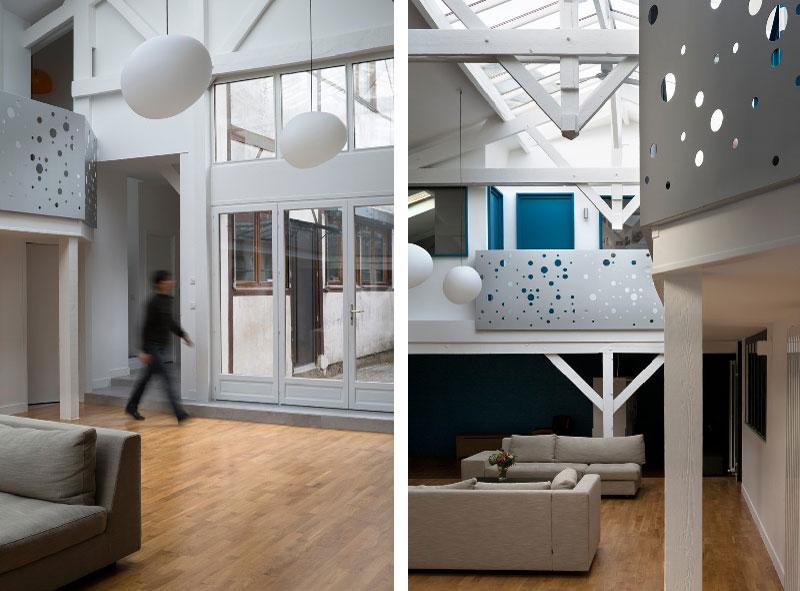 La trasformazione di una vecchia falegnameria in un moderno loft
