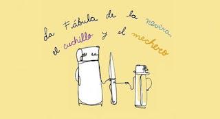 POS La FABULA de la nevera, el cuchillo y el mechero (Teatro)