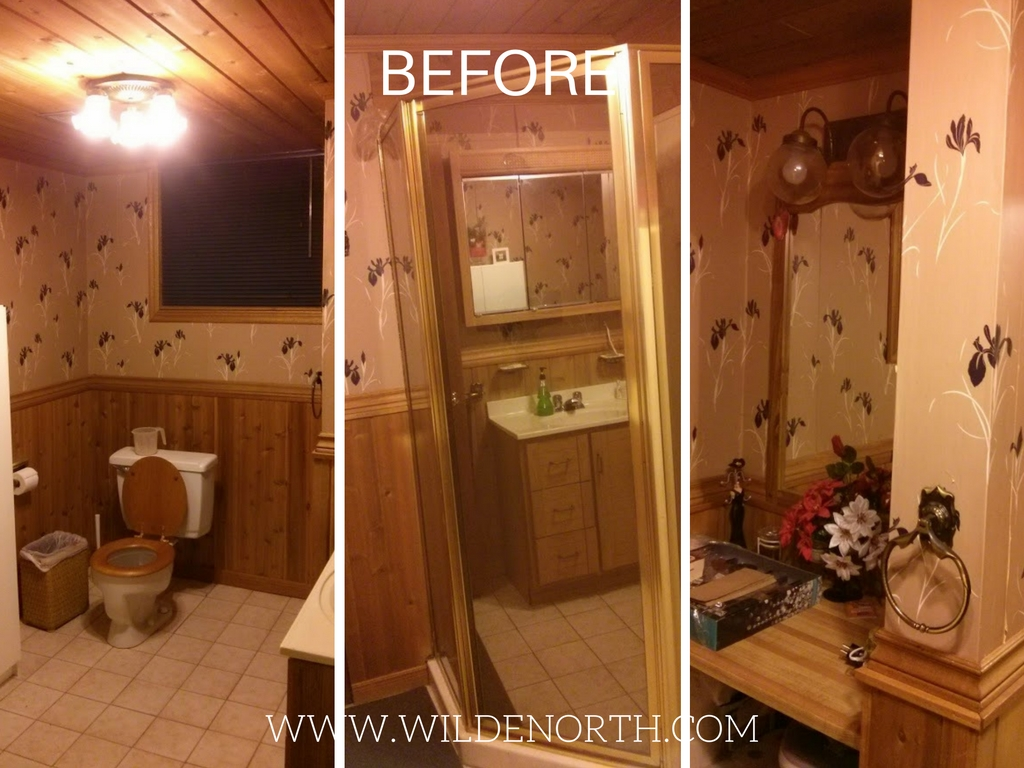 washroom reno before and after