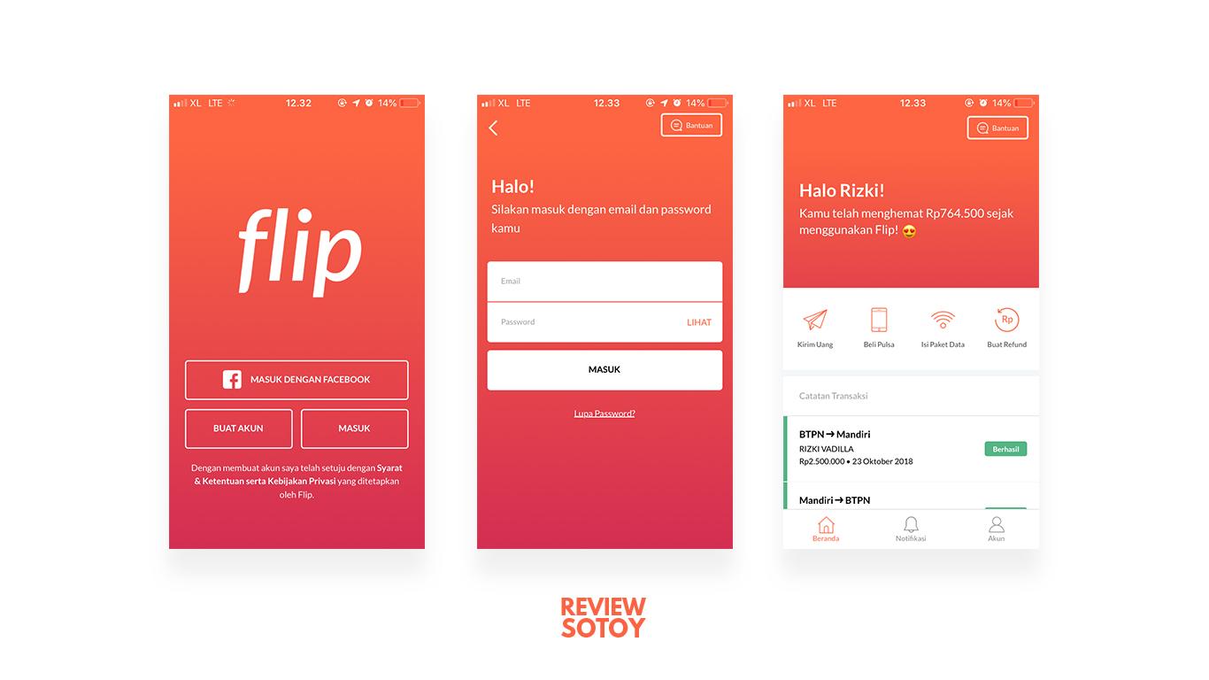 9186ea7b21518 Nyobain Flip   Aplikasi Transfer antar Bank Tanpa Biaya di iPhone ...