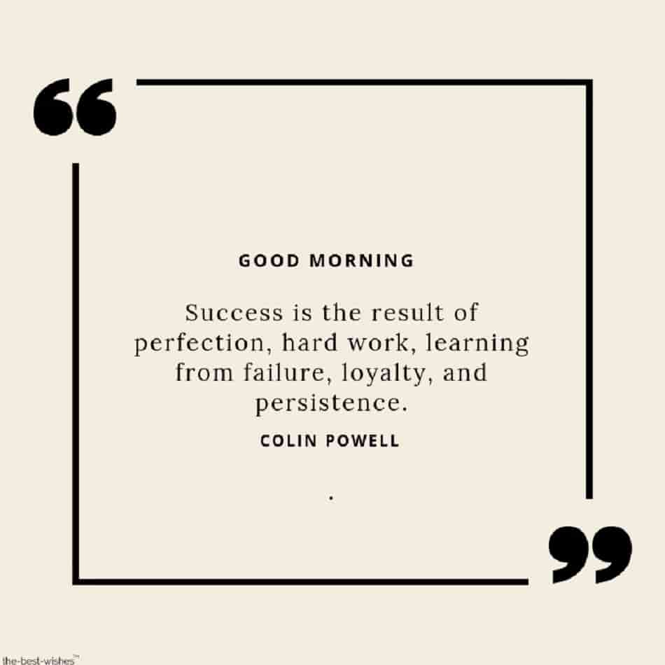 good morning wish with success quotes and failure