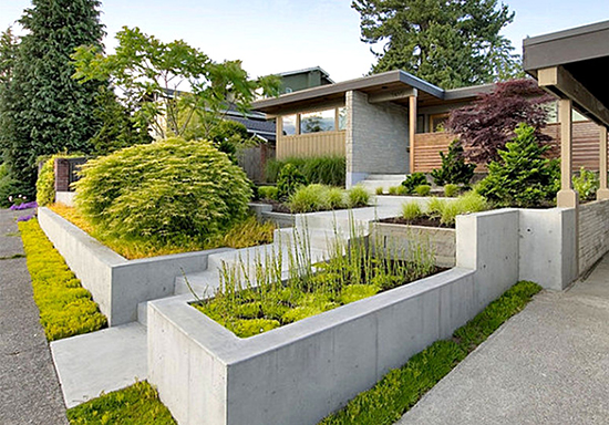 Inspirasi desain taman fasade