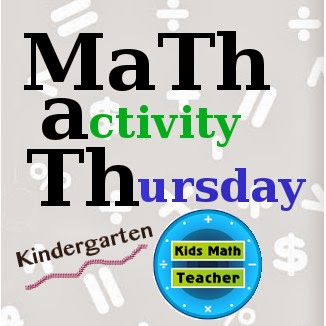 Kids Math Teacher Math activity Thursday--Kindergarten