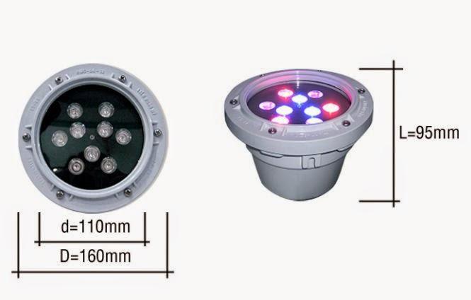 ĐÈN LED ÂM NƯỚC 9W RGB