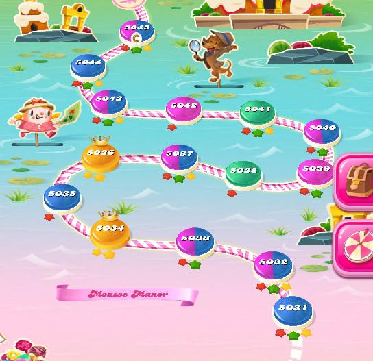 Candy Crush Saga level 5031-5045