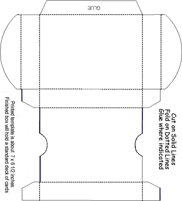 Box Template Playing Card