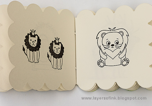 Layers of ink - Panda Coloring Book Tutorial by Anna-Karin with Simon Says Stamp 3 Sided Scallop