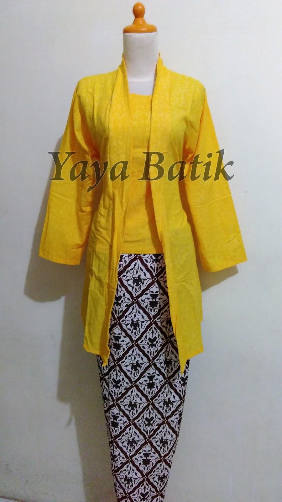 Kebaya Batik Encim Kuning  Toko Baju Batik Online  Online Shop