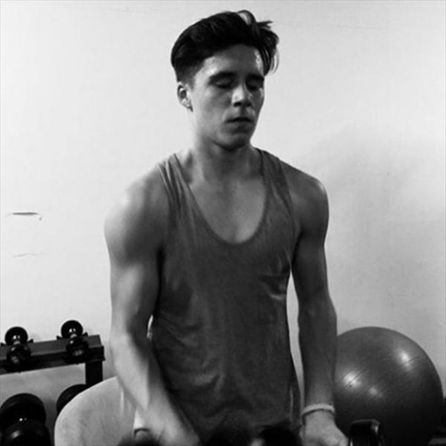 Brooklyn Beckham The prodigal son of David and Victoria Beckham shows very hot during a workout.