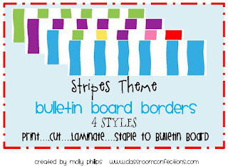 stripes bulletin board border