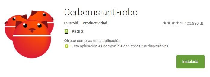 Cerberus anti robo app