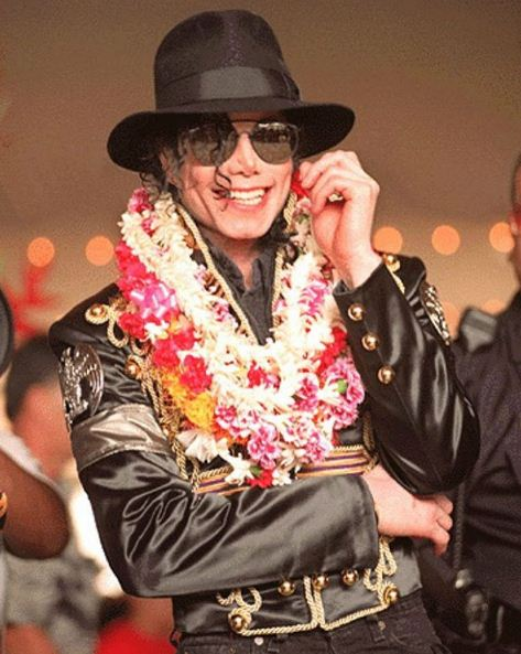 Michal Jackson in concert at Aloha Stadium in January, 1997