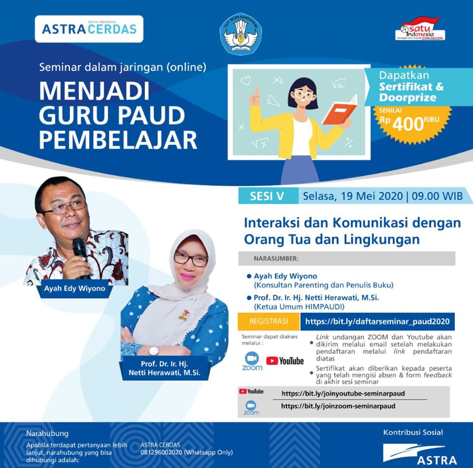 PARENTING ON LINE WITH ASTRA DAN KEMENDIKBUD